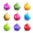 Set of beautiful colorful christmas balls isolated — Stock Vector #58678473