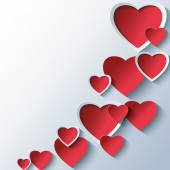 Trendy abstract background with 3d stylized hearts — Stock vektor