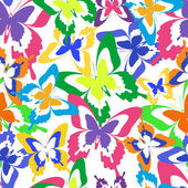 Background seamless pattern with colorful butterflies — Stock Vector