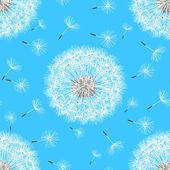 春の花タンポポのシームレス パターン — ストックベクタ