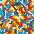 Bright vintage seamless pattern with butterflies — Stock Vector #79586172