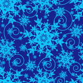Winter blue seamless pattern with snowflakes — Stock Vector