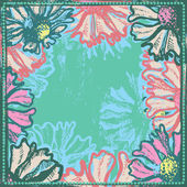 Bright vintage and vivid floral frame — Stock Vector
