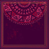 Hand drawn ethnic card with space for text — Stockvektor