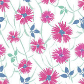 Hand painted textured tender floral seamless pattern — Stock Vector