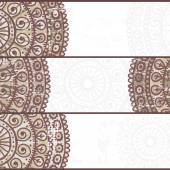 Conjunto de cartões étnicas — Vetor de Stock