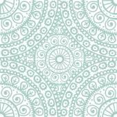 Hand drawn mandala seamless pattern in light blue l tones — Vetor de Stock
