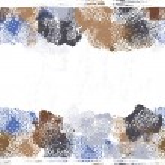 Постер, плакат: Hand drawn shabby seamless border in blue tones