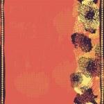 Постер, плакат: Hand drawn shabby seamless border in red tones