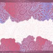 Hand drawn  bizarre  seamless banner — Stock Vector