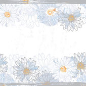 Hand made elegance fresh floral seamless banner. — Stockvector