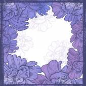 Elegance watercolor floral frame — Stock Vector