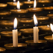 Church candles in rows — Stock Photo #56407893