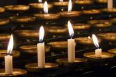 Church candles in rows  — Stock Photo