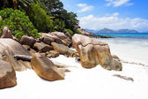 Beautiful beach on Seychelles islands — Stock Photo