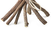 Licorice roots — Stock Photo