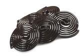 Liqorice wheels candies — Stock Photo