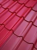 Colored tin roof structure — Stock Photo