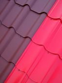 Colored tin roof structure 1 — Stock Photo