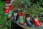 Boots ornamental from ceramics — Stockfoto