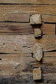 Combination of wooden beams — Foto de Stock