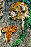 Romanian traditional objects of wood 3 — ストック写真