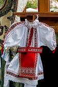 Romanian traditional costume for little girl — Stock Photo