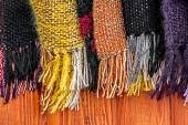 Wool scarves of various colors 1 — Stock Photo
