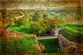 Old postcard with Petrovaradin fortress in Novi Sad, Serbia 5 — Zdjęcie stockowe