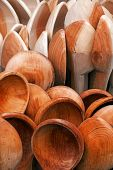 Large wooden spoons — Foto Stock
