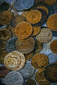 Old photo with old coins 2 — Stock fotografie