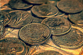 Old photo with old coins 1 — Stock fotografie