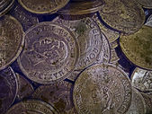 Old photo with old coins 4 — Stock fotografie