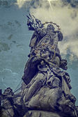 Old photo with Plague Monument — Stock Photo