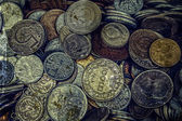 Old photo with old coins 7 — Stock fotografie