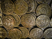 Old photo with old coins 10 — Stock Photo