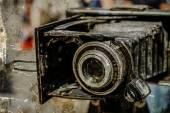 Gammalt foto med gamla fotokamera 6 — Stockfoto