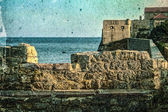 Old photos wit fortress of the old town of Budva, Montenegro 5 — Stock Photo