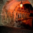 Old photo with Fishermens bastion in Budapest, Hungary. Detail. — Stock Photo #62295893