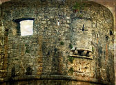 Old photos with fortress of the old town of Budva, Montenegro 2 — Stock Photo