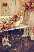 Vintage look at rustic and romantic decoration 2 — Stock Photo