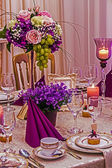 Arrangement for the wedding dinner party-18 — Stock Photo