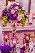 Arrangement for the wedding dinner party-19 — Stock Photo
