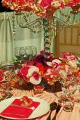 Arrangement for the wedding dinner party-17 — 图库照片