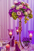 Arrangement for the wedding dinner party-20 — Stock Photo