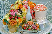 Floral arranjament for a romantic events — Stock fotografie