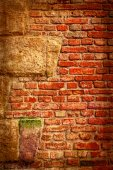 Background with detail of old fortress wall 1 — Stock Photo