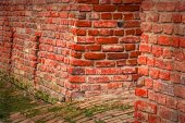 Background with detail of old fortress wall 3 — Stock Photo