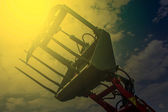 Agricultural equipment in sunset light. Detail 15 — Stock Photo