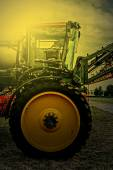 Agricultural equipment in sunset light. Detail 17 — Stock Photo
